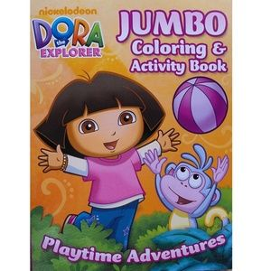 Dora The Explorer Jumbo Coloring And Activity Book